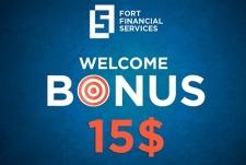 Fort Financial Servisec объявила о начале акции «Welcome Bonus 15 USD»